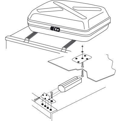 kit de fixation pour coffre de toit thule 40exkfttcl accessoires camping car caravane camp. Black Bedroom Furniture Sets. Home Design Ideas