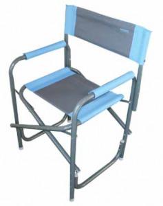 chaise croisette avec tablette bleu 30pecctbcl accessoires camping car caravane camp. Black Bedroom Furniture Sets. Home Design Ideas