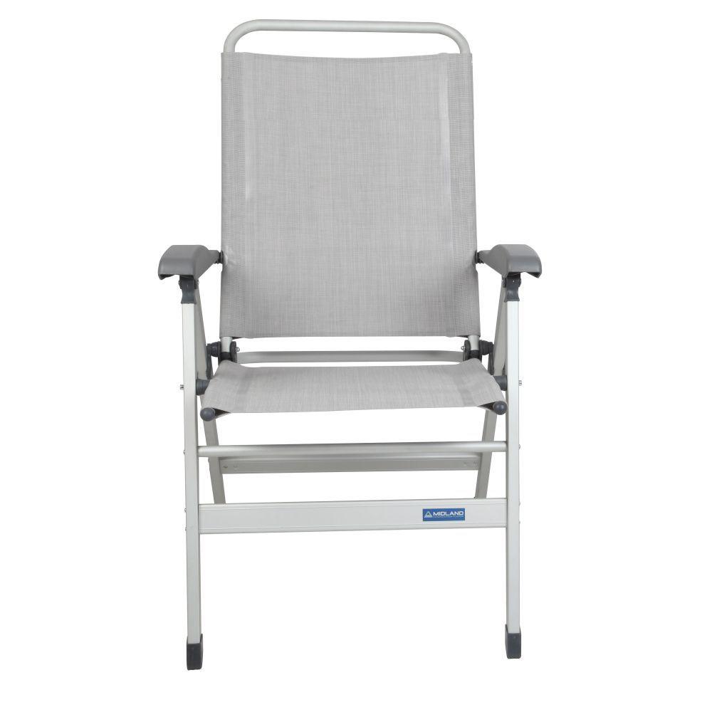 fauteuil aluminium gris clair midland 30pefalgriscl. Black Bedroom Furniture Sets. Home Design Ideas